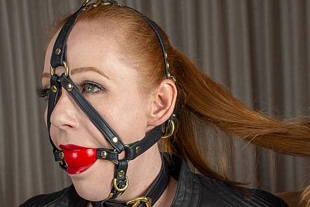 DS BDSM 玩具(8) 皮革绑带口球