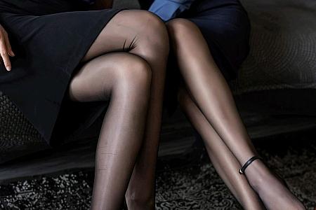 [IMISS爱蜜社]Vol.519_丽质模特Lavinia肉肉&Jermy典雅OL短裙配黑丝裤袜诱惑写真55P