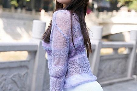 XiuRen第3058期_女神芝芝Booty脱紫色毛绒镂空服饰露性感内衣肉丝裤袜诱惑写真62P