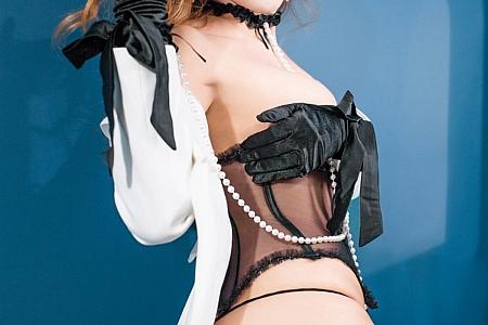 XiuRen第3189期_高挑美女贵贵私房黑色情趣内衣秀完美身材露豪乳遮点诱惑写真54P