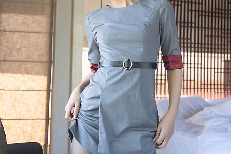 XiuRen第3295期_嫩模就是阿朱啊私人管家主题红色内衣配黑丝裤袜撩人诱惑写真50P