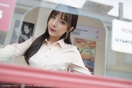 XiuRen第3453期_嫩模陈小喵成都旅拍售票员剧情主题性感内衣秀完美身材诱惑写真68P