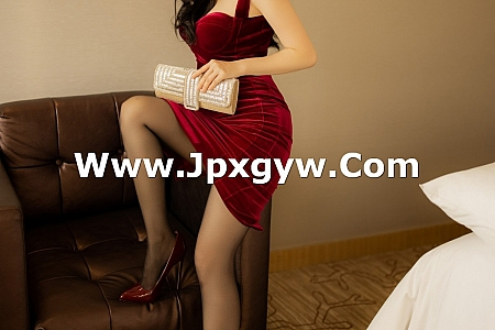 XiuRen第3515期_嫩模白茹雪Abby私房典雅红色吊裙配黑丝裤袜极致魅惑写真37P