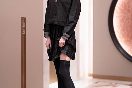 [XiaoYu画语界]Vol.591_模特程程程-学院风制服半脱露性感内衣配黑丝袜迷人诱惑写真57P