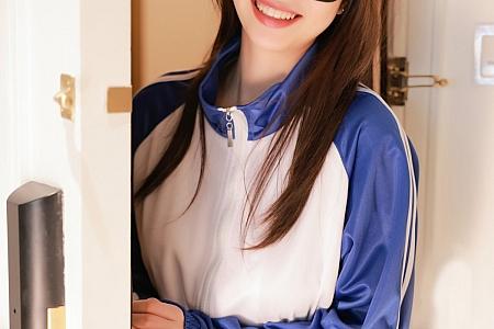 XiuRen第3875期_模特明日花桃桃蓝色校服主题半脱露蕾丝内衣情趣捆绑诱惑写真58P